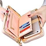 Women Bowknot Wallet Large Long Purse Phone Card Holder Clutch Capacity Pocket