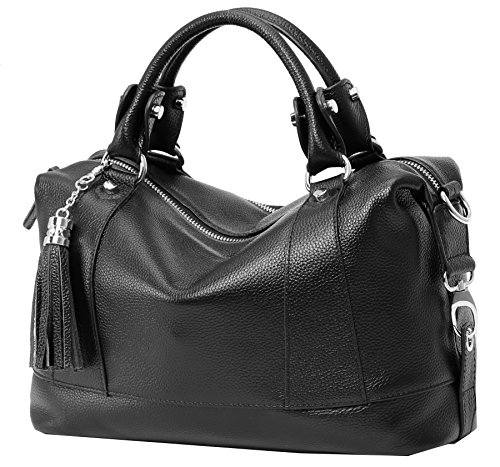 """51vd+yEaSDL Size information:(L)13.65in"""" * (H) 7.8in"""" * (W) 5.07in"""" and the weight is less than 1.69 pounds. Long Shoulder Strap: 51.09(the shoulder strap can be adjusted to the longest 51.09"""" in). Structure: The bag has two separated pockets inside,and a zippered pocket as a interior compartment which will keep you organized.A rear zippered pocket. Capacity:This handbag has ID card/mobile phone/wallet/zipper pocket,which can carry mobile phone,wallet,cosmetic,IPAD ,umbrella and so on."""