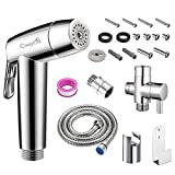 Kit Douchette WC à main bidet, CrazyFire Toilette Bidet Spray, Douchette Bidet avec...