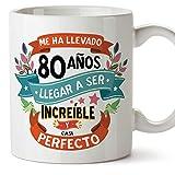 MUGFFINS Taza 80 Cumpleaños -'Me ha llevado 80 años llegar a ser increíble y...