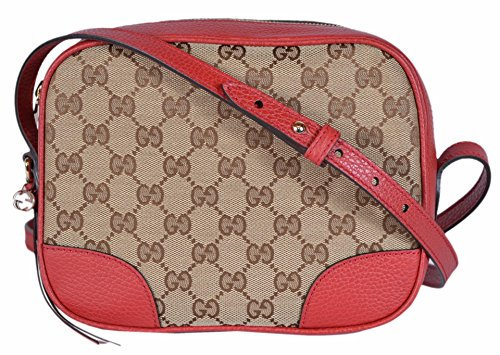 "51vf1F2pHtL Ebony Beige Canvas with Red Leather Trim Adjustable Crossbody Strap with a 22"" Drop Interior Card Slots, Linen Lining"