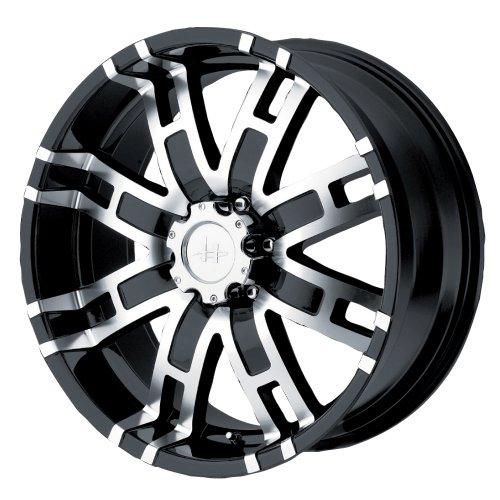 Helo HE835 Gloss Black Machined Wheel - (17x8'/6x5.5')