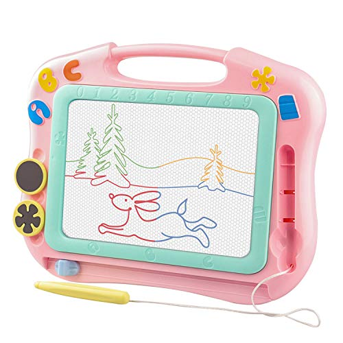 Hottest Educational Toys for 2 Year Old Girls,Magnetic Drawing Board for kids,Preschool Learning Toy for 1 2 3 4 Year Olds 2020 Newest Birthday Gift for 1 year old boys Magna Doodle Pad Pink
