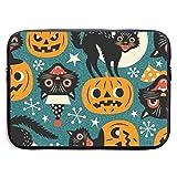 Spooky Vintage Cats and Pumpkins Bolsas para computadora portátil compatibles con Tableta Netbook de 15 ″, maletín con Funda para Llevar Bolso de Mano