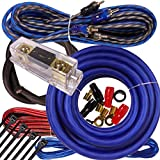 Complete 3000W Gravity 4 Gauge Amplifier Installation Wiring Kit Amp Pk2 4 Ga Blue - for Installer and DIY Hobbyist - Perfect for Car/Truck/Motorcycle/Rv/ATV