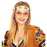 NET TOYS Kit Costume Hippie avec Bandeau, Boucles d'oreilles et Lunettes...