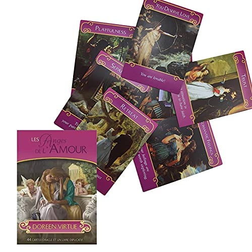 44Pcs The Romance Angel Oracle Cards by Doreen Virtue Rare...