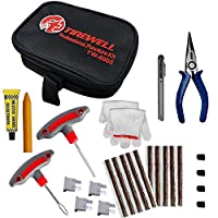UNIVERSAL TUBELESS TIRE REPAIR KIT: TIREWELL TW-5005 10-in-1 Universal Tubeless Tyre Puncture Kit is a compact and convenient set that has everything you need to repair tubeless tires on your own. With T handle Grips and Repair String Plugs, you can ...