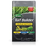 Scotts Turf Builder Triple Action - Weed Killer & Preventer, Lawn Fertilizer, Prevents Crabgrass, Kills Dandelion, Clover, Chickweed & More, Covers up to 10,000 sq. ft, 50 lb.