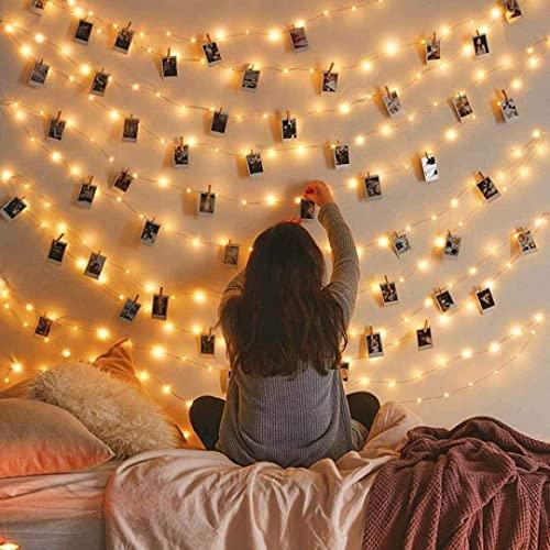 Vont Starry Fairy Lights, String Lights, 66FT, 200 LEDs, Bedroom...