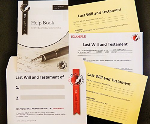 Last Will and Testament Kit, Super Value, 2020-21 Edition, Simple to do, Allows up to Two People to Make Wills, Solicitor Approved.