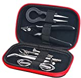 Dricar E Zigarette DIY Werkzeug Selbstwickler Set, 9 Stück Edelstahl Spule-Jig-wickelset Mini komplettes Werkzeug und Zubehör im Kleinformat - zum Selbstwickeln für e-Zigarette