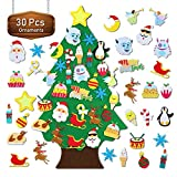 TOBEHIGHER Felt Christmas Tree - 3.1 FT Wall Felt Christmas Tree for Kids with 30 pcs Ornaments, DIY Xmas Gifts for Christmas Decorations