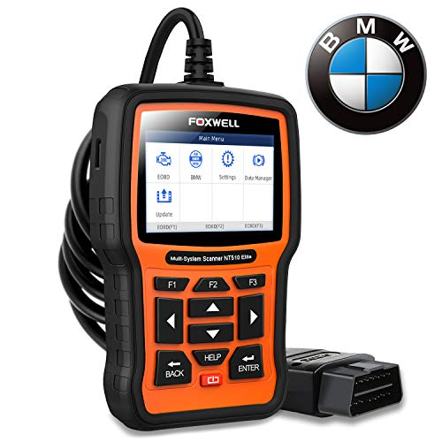FOXWELL NT510 Elite Automotive Obd2 Scanner for BMW Full-Systems Diagnostic Code Reader Bidirectional Scan Tool with SRS EPB SAS TPS Oil Reset Battery Registration