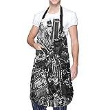 N\A Akira Cyberpunk City Explosion Manga Strip Kochschürze mit Tasche für Männer Frauen