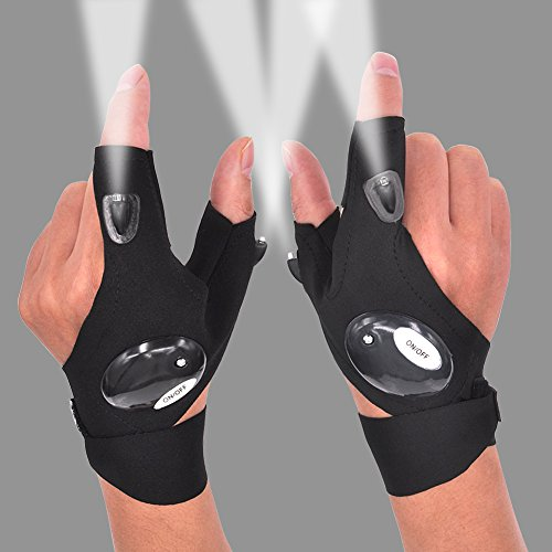 LED Flashlight Glove Gifts for Men Father Day Outdoor...