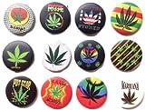 Marihuana semillas de marihuana #3 wesome Calidad lote 12 nuevos pines botones insignia 1.25 pulgadas