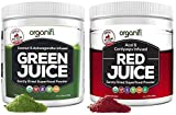 Organifi: Green Juice & Red Juice Bundle - 30 Day Supply - Superfood Supplement Powder - Boosts Metabolism & Immune System - Detox & Revitalize - Reverse The Signs of Aging