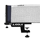 JOOLA Premium Avanti Table Tennis Net and Post Set - Portable and Easy Setup 72' Regulation Size Ping Pong Screw On Clamp Net, White/Black (31009)