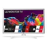 LG 24TN510S- WZ - Monitor Smart TV de 60 cm (24') con Pantalla LED HD (1366 x 768, 16:9, DVB-T2/C/S2, WiFi, Miracast, 10 W, 2 x HDMI 1.4, 1 x USB 2.0, óptica, LAN RJ45, VESA 75 x 75), Color Blanco