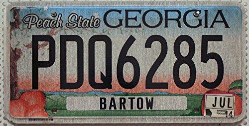 Nummernschild GEORGIA Peach State US License Plate -- USA Autokennzeichen / Blechschild