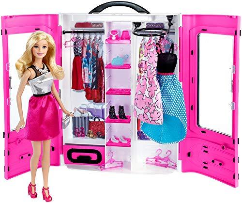 Barbie Armadio Fashionistas, Playset con Guardaroba e Bambola inclusa, per Bambini 3+ Anni, DMT58