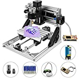 Mophorn CNC Machine 2418 GRBL Control Wood Engraving Machine 3 Axis CNC Router with 500mw Laser Engraver Offline Controller Milling Machine for Wood PVCs PCBs