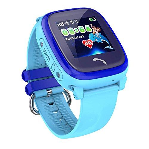 VIDIMENSIO GPS Telefon Uhr 'Kleiner Delfin-blau, Armband:ohne Figur',ohne...