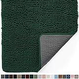 Gorilla Grip Original Indoor Durable Chenille Doormat, 60x36, Absorbent Machine Washable Inside Mats, Low-Profile Rug Doormats for Entry, Back Door, Mud Room, High Traffic Areas, Deep Green
