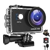 GOOKAM Caméra Sport 4K WiFi 20MP Ultra HD, Étanche 40M 170°Grand-Angle 2.0 '' LCD avec Microphone...