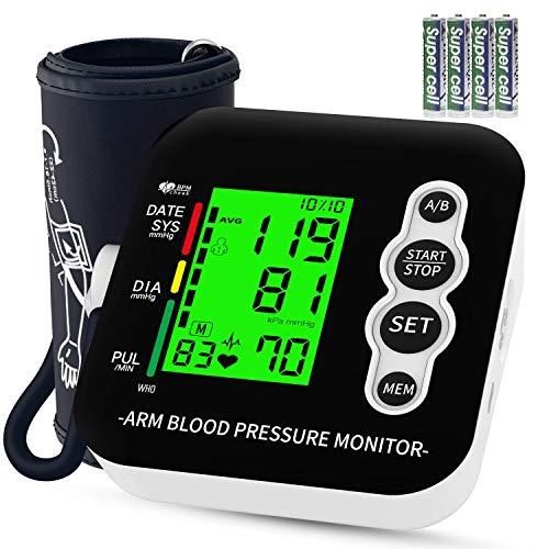 Misuratore di Pressione da Braccio, OUDEKAY Sfigmomanometro Elettronico Da Braccio, Misurare...