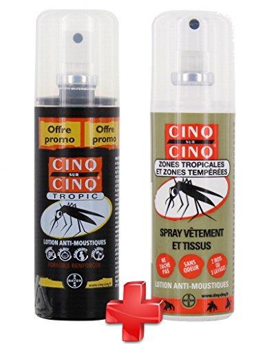 Cinq sur Cinq - Kit Haute protection contre les Moustiques Spray Tropic 75...
