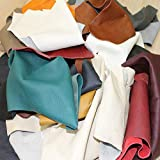 Lederreste Bastelleder Lederstücke 2 Kg bunt, farblich gemischt, alle Stücke Mind. DIN A5 und größer, Zum Basteln und Nähen