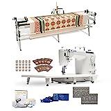 Juki TL-2010Q 9' Long-arm Machine, Grace Continuum Quilting Frame, SureStitch Regulator, Pattern Templates, 100 Needles,