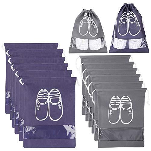 XDDIAS 12 Piezas Bolsa de Zapatos, Impermeable Bolsa a Prueba de Polvo...