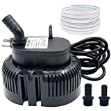 Pool Cover Pump Above Ground - Submersible Sump Pump, Swimming Water Removal Pumps, with Drainage Hose & 25 Feet Extra Long Power Cord, 850 GPH inGround, 3 Adapters