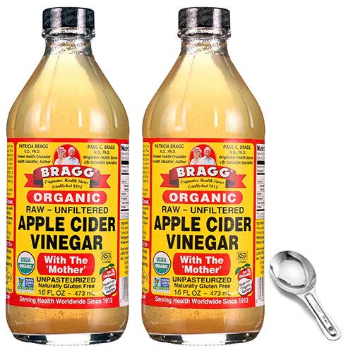 Bragg USDA Organic Raw Apple Cider Vinegar, With The Mother 16 Ounces