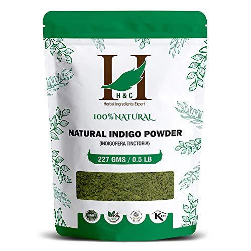 100% Natural Indigo Powder for Hair (227g / (1/2 lb) / 8 ounces) Indigofera tinctoria to color your hair brown to black