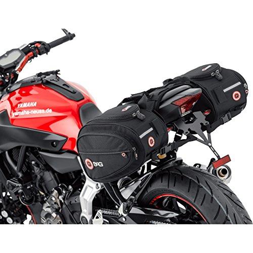QBag Motorrad-Satteltaschen Satteltaschen Motorrad Gepäck Satteltaschenpaar Motorradgepäck, 22 Liter Stauraum (2x11 l), Regenhaube, universell für Fast jedes Modell, schwarz