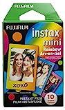 Fujifilm Instax Mini Rainbow Film - 10 Exposures (Electronics)