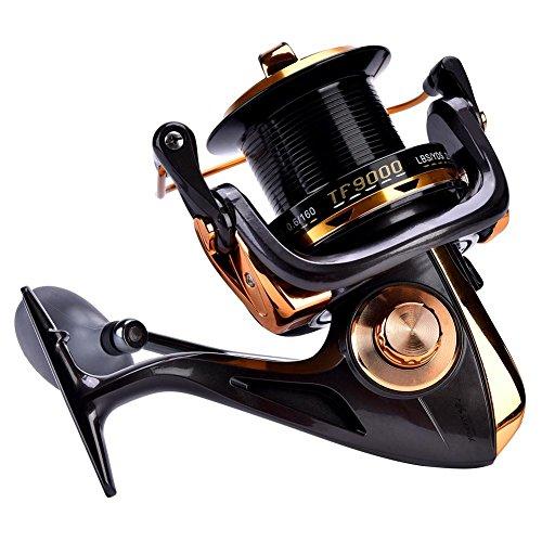 Dilwe Spinning Reel 12 + 1BB Fusione Metallica ad Alta Velocit Rulli da Pesca con Filatura Liscia per Pesca in Mare(11000) bh90 shimano