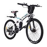 Vivi Folding Electric Bike Electric Mountain Bicycle 26' Lightweight 350W Ebike, Electric Bike for...
