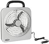 RoadPro RP8000 10' Indoor/Outdoor Dual Power Fan, Silver
