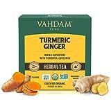 Vahdam: té de hierbas con cúrcuma y jengibre