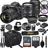 Nikon D750 DSLR Camera with 24-120mm VR + Tamron 70-300mm + 32GB Card, Tripod, Flash, and More (21pc Bundle)