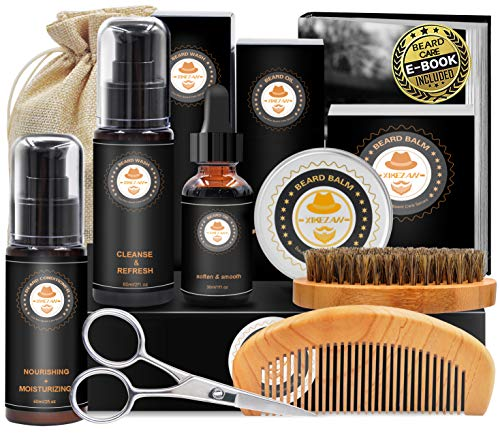 Upgraded Beard Grooming Kit w/Beard Conditioner,Beard...