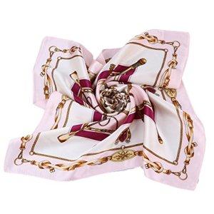 Grace Scarves 100% Silk Scarf, Petite Square, Charmeuse