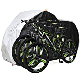Aiskaer Bicycle Cover with Lock Hole Reflective Safety Loops for 29er Mountain Road Electric Bike Motorcycle Cruiser Outdoor Storage, Waterproof, Anti-UV, Heavy Duty Ripstop Material 210D