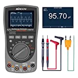 Oscilloscope,KKmoon Intelligent Digital Storage 2-in-1 Digital 40MHz 200Msps/S One Key Oscilloscope OSC 6000 Counts True RMS Multimeter DMM AC/DC Voltage Current Resistance Capacitance Frequency Meter