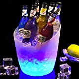 LED Ice Bucket - Colorful Gradient Ice Bucket 5 Liter,Great for Home Bar, Chilling Beer, Champagne and Wine (1pcs)